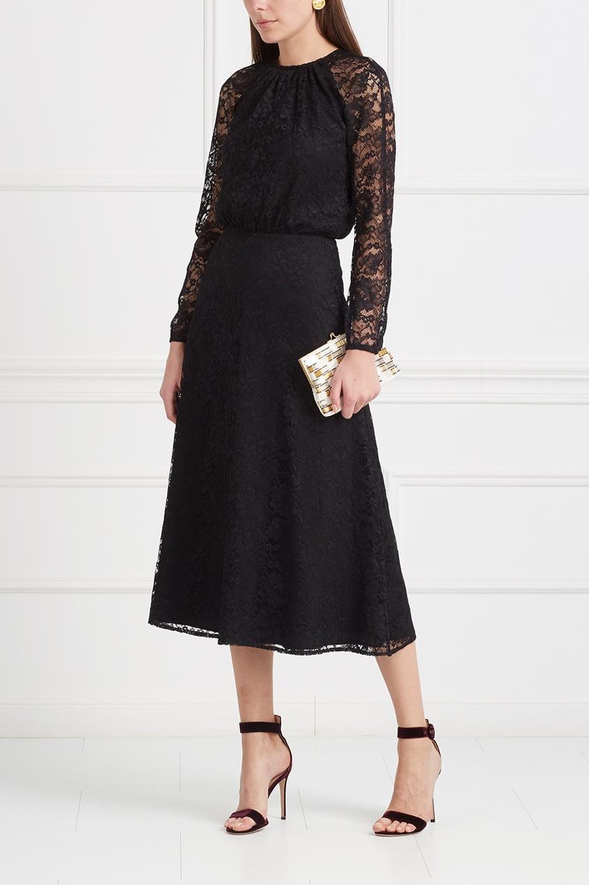 LAROOM Кружевное платье laroom черное платье макси