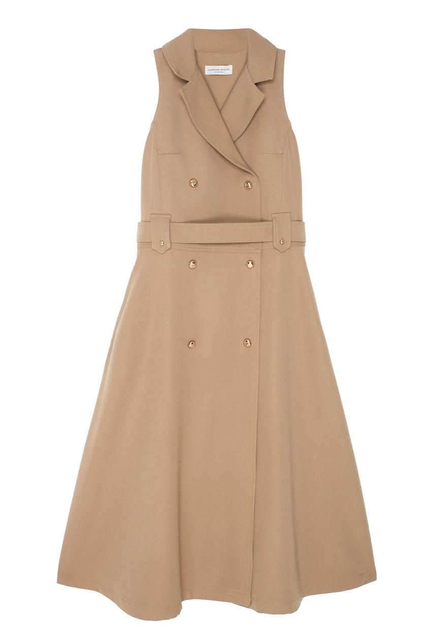 LAROOM Шерстяное платье платье с застежкой впереди