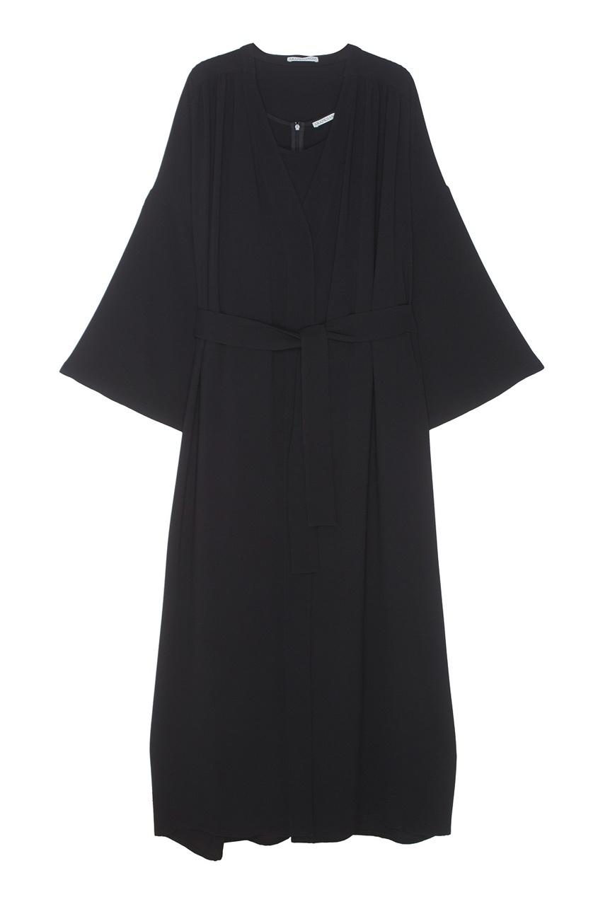 Шёлковые платье и халат