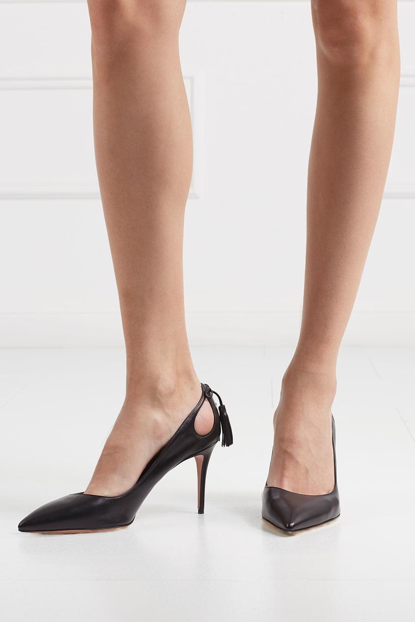 Aquazzura Кожаные туфли Forever Marilyn ботинки кожаные с кисточками