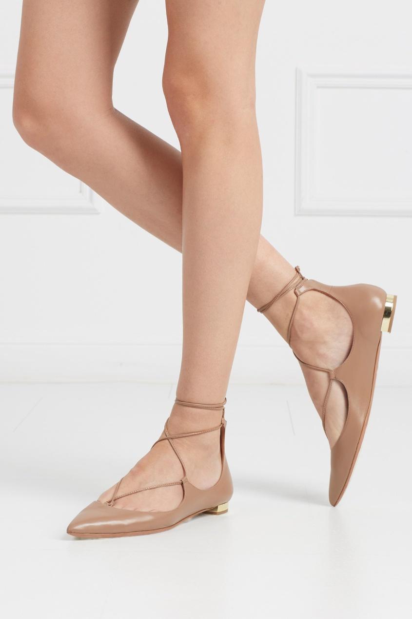 Кожаные туфли Christy Flat