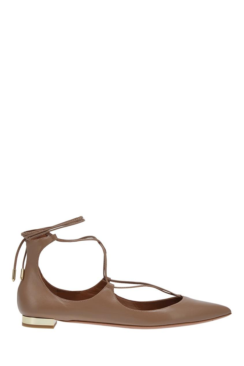 Aquazzura Кожаные туфли Christy Flat aquazzura серебристые босоножки из кожи josephine plateau 130