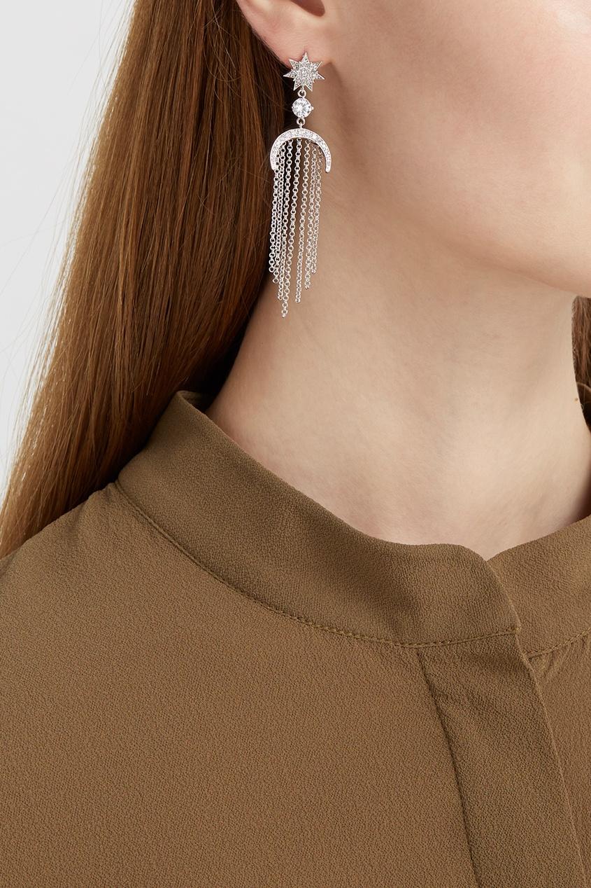 Lisa Smith Серьги с кристаллами moon paris серьги с кристаллами и с гематитом с серебрением mok 1607 061
