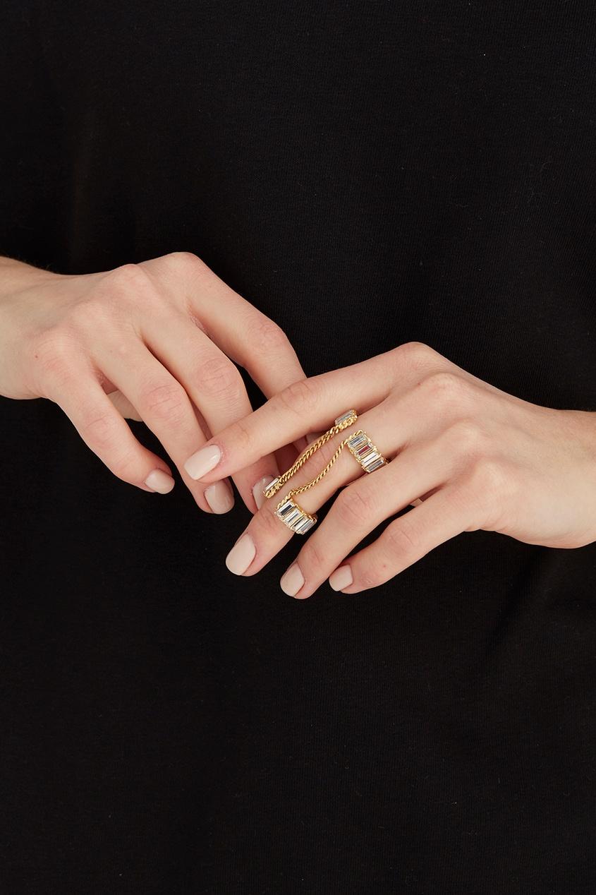 Auden Кольцо с кристаллами auden серьги пуссеты