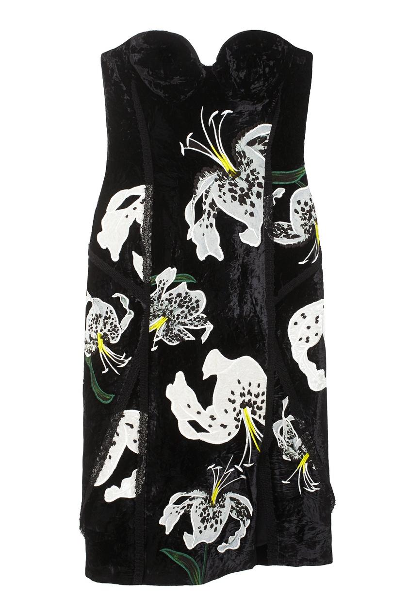 Бархатное платье Rebecca.