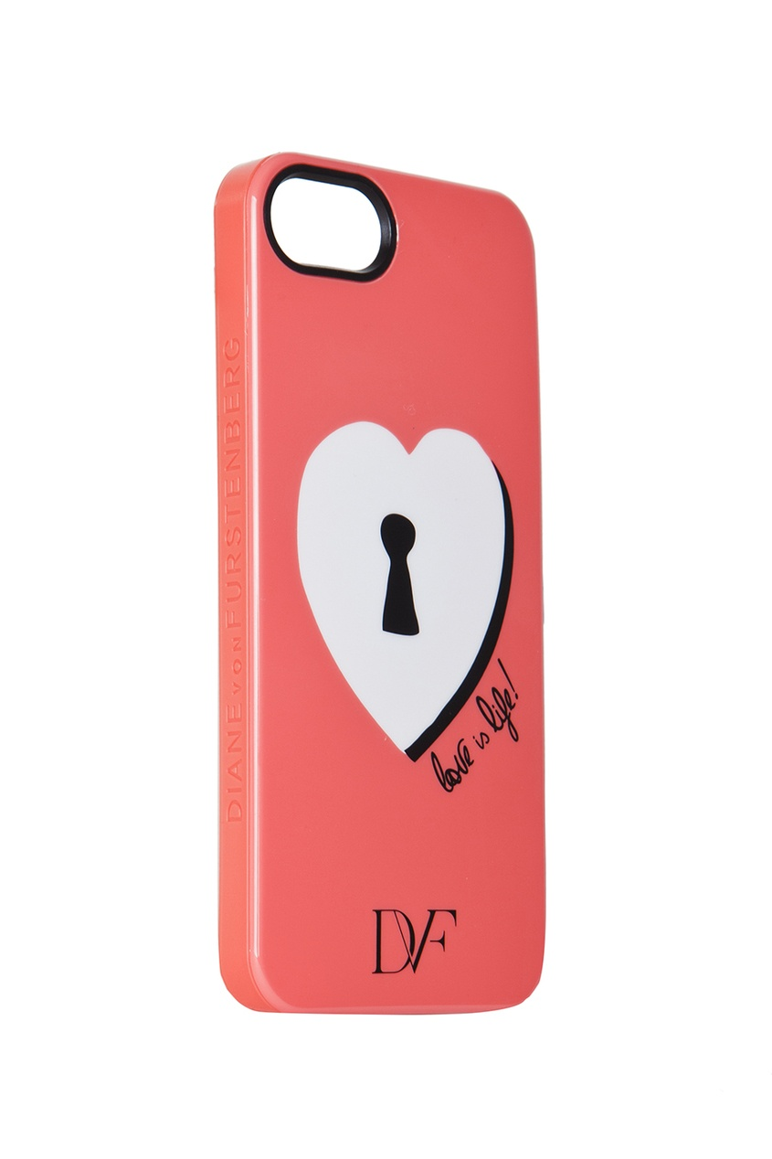Чехол для iPhone 5 Lock Heart Coral