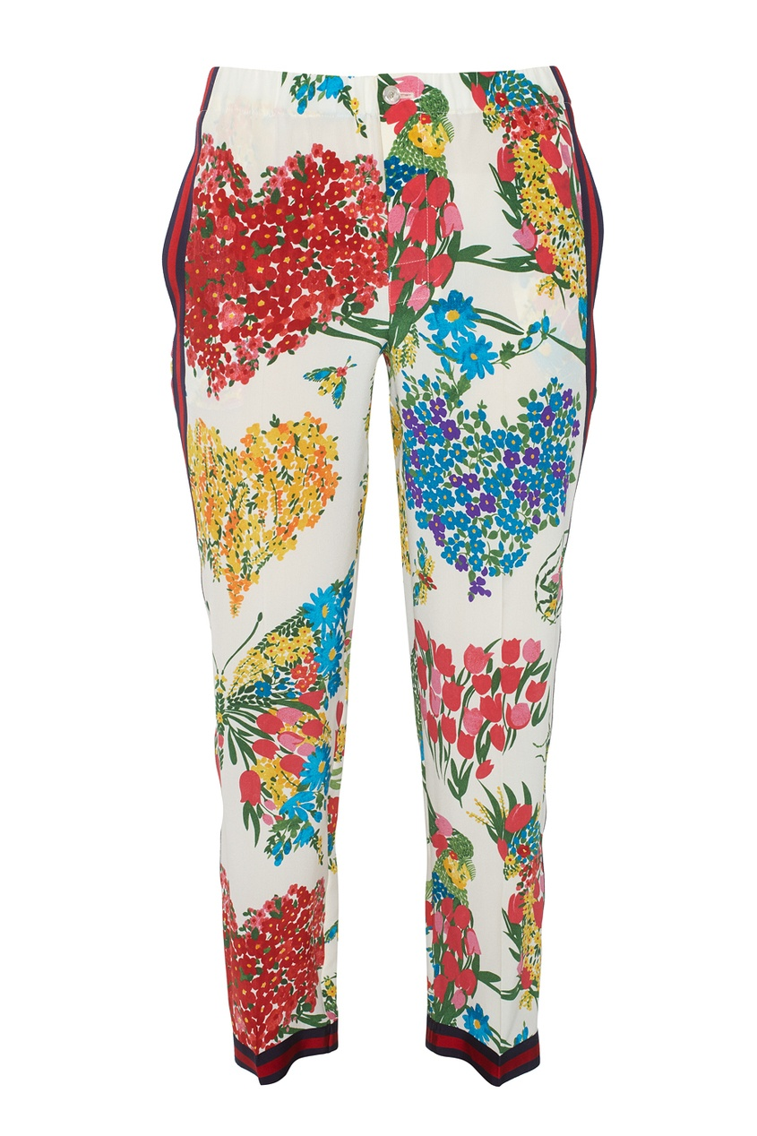Gucci Шелковые брюки