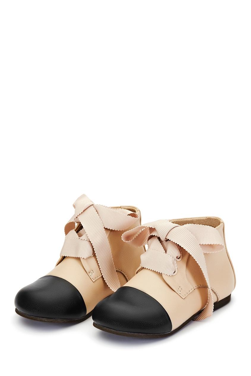 Age of Innocence Кожаные ботинки бежевые Jane ботинки кожаные с кисточками