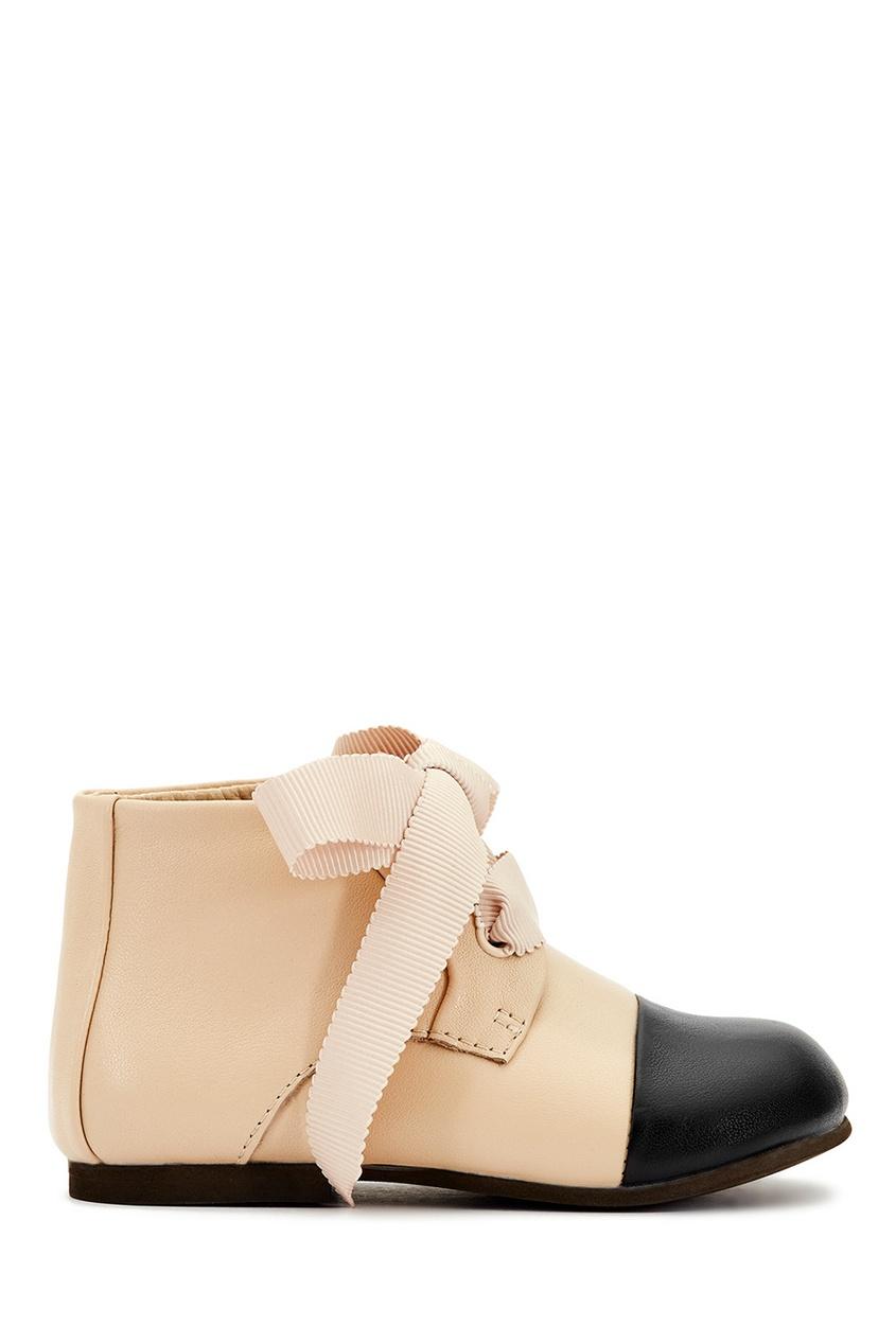 Кожаные ботинки бежевые Jane