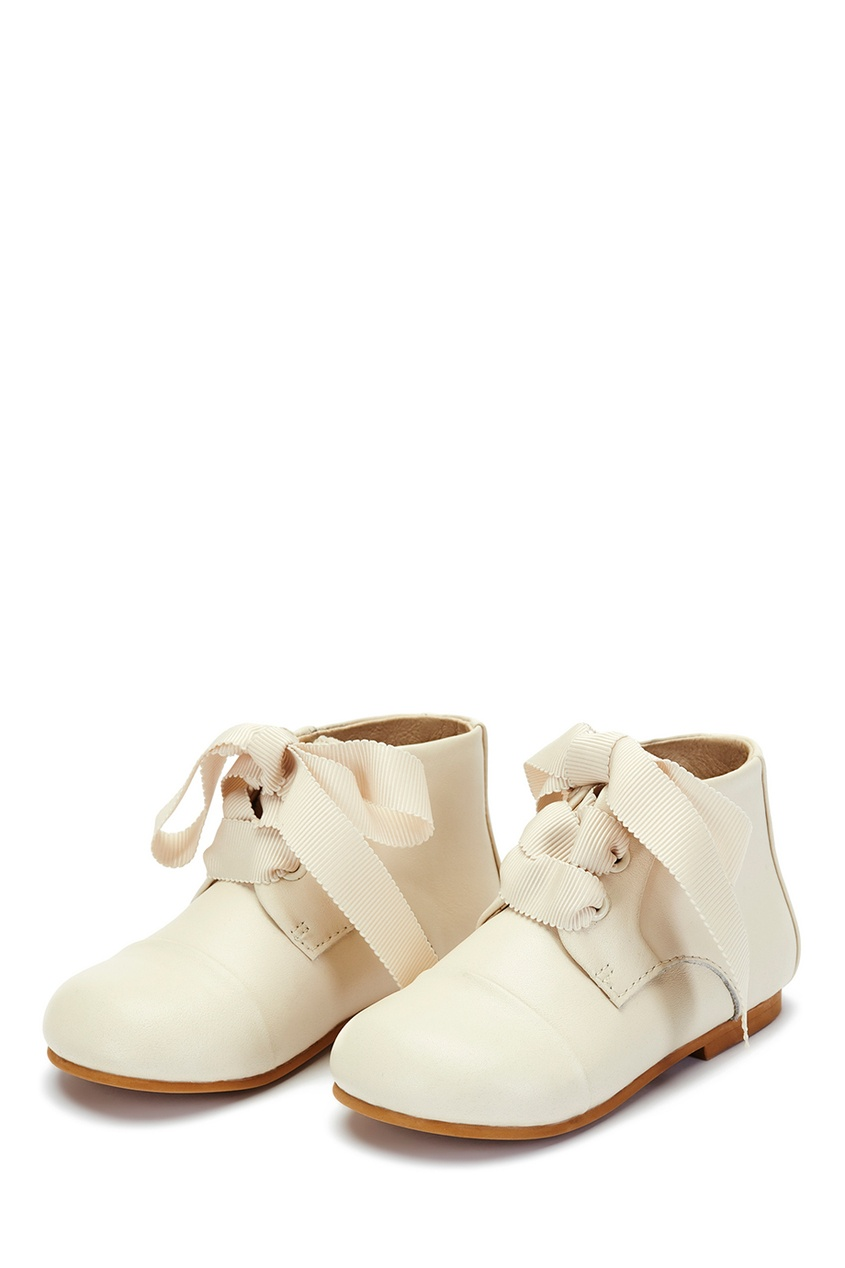 Age of Innocence Кожаные ботинки молочного цвета Jane ботинки кожаные с кисточками