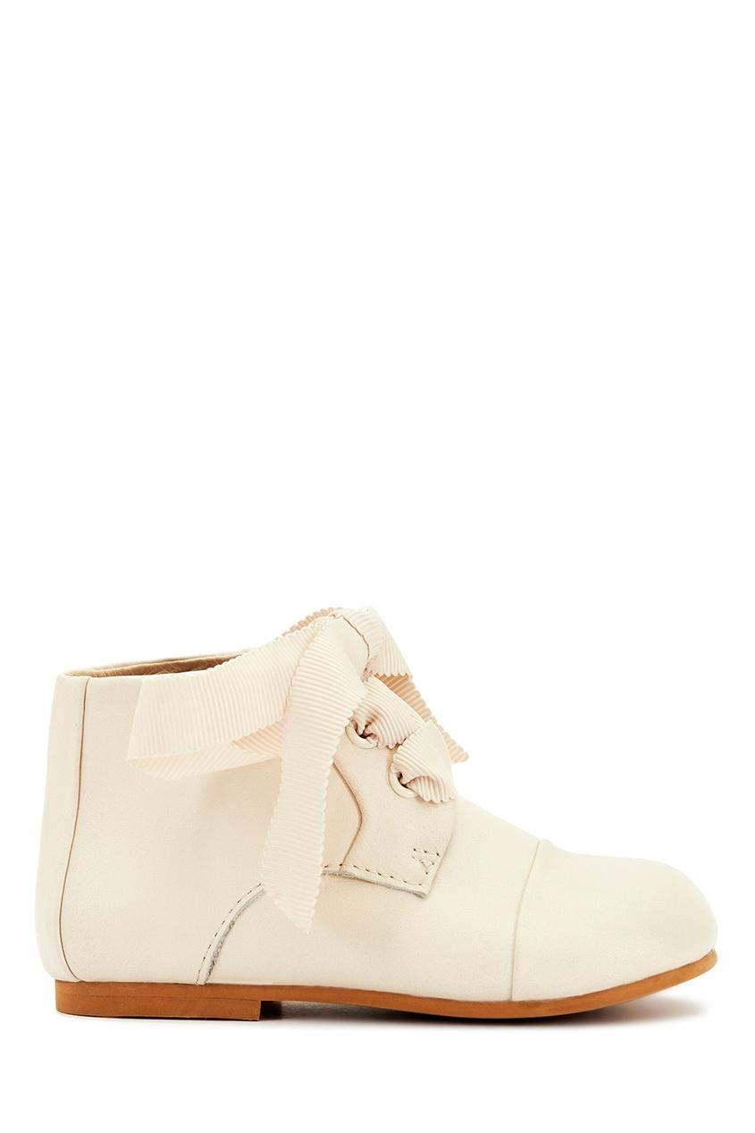 Кожаные ботинки молочного цвета Jane