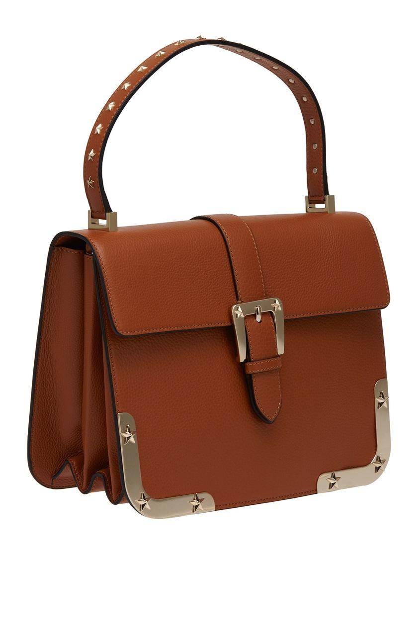 Женская бордовая сумка ricky 33 из замши RALPH LAUREN