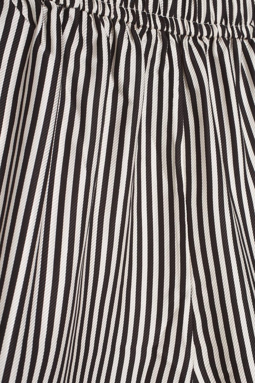 Широкие шорты в полоску