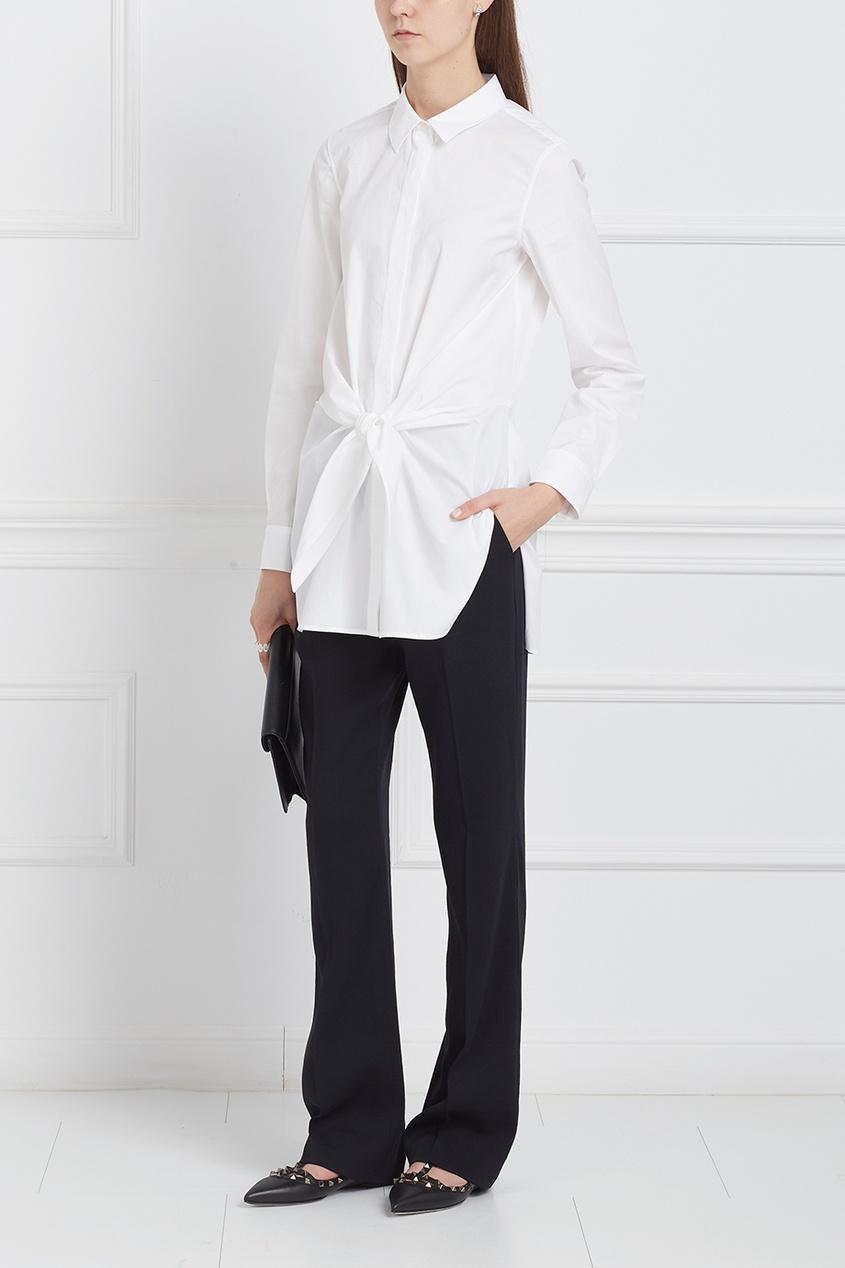 Блузка с широким поясом