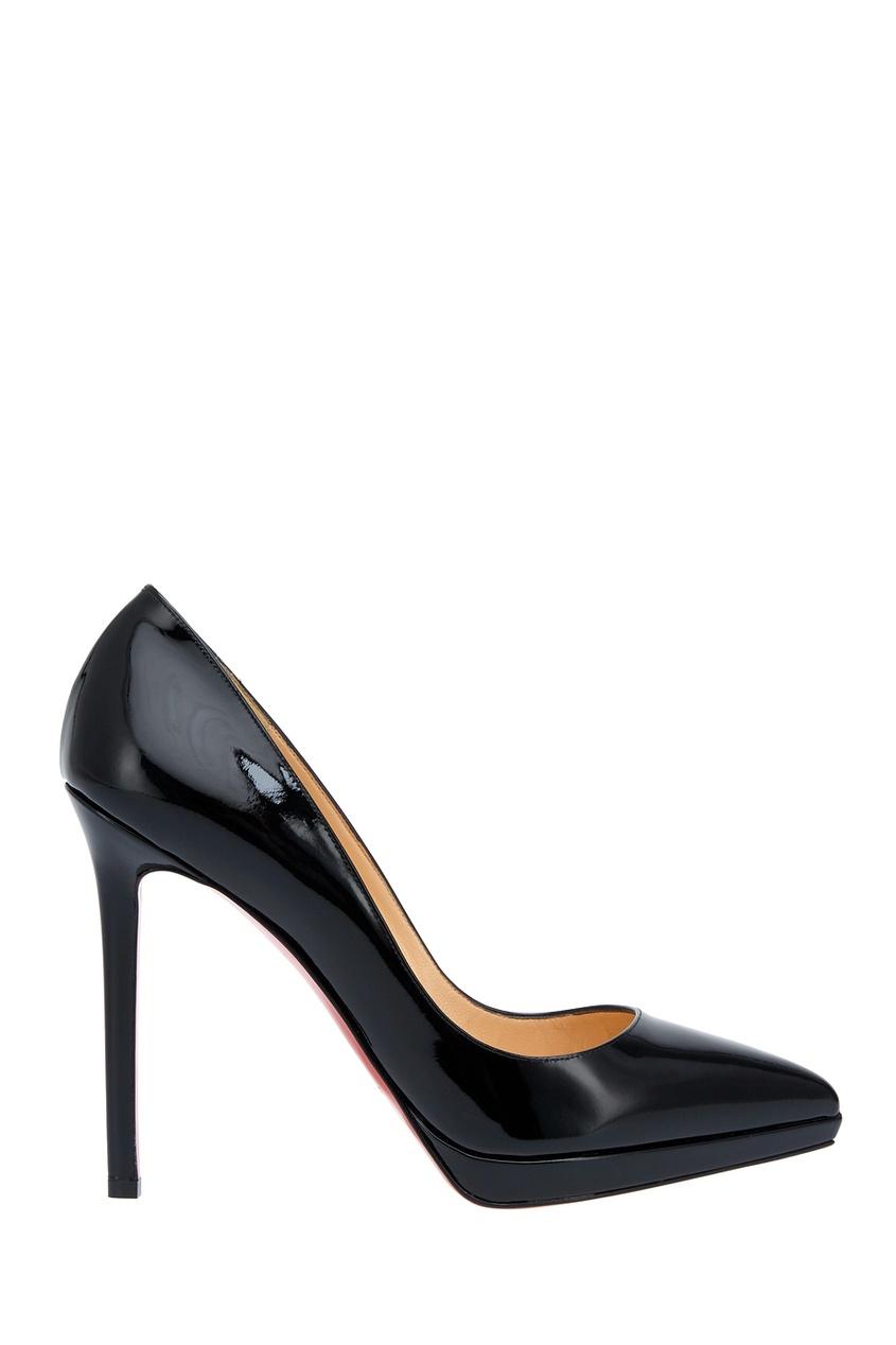 Туфли из лакированной кожи Pigalle Plato 120 Christian Louboutin