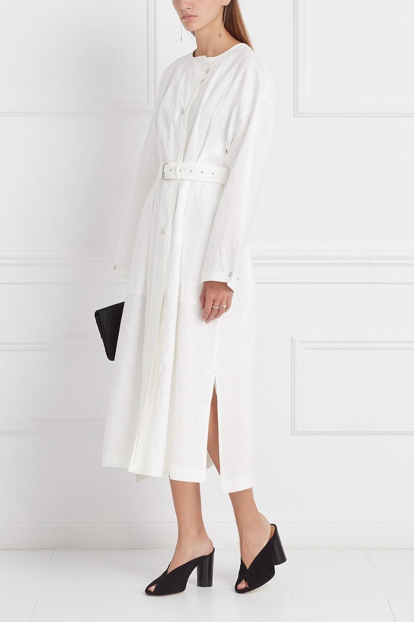 Пальто из шерсти и хлопка Ivo