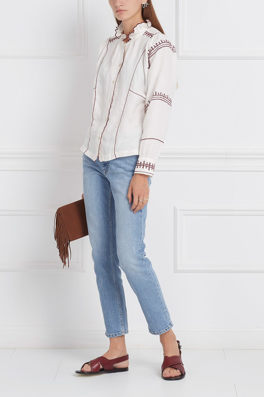 Isabel Marant Etoile Льняная блузка Delphine