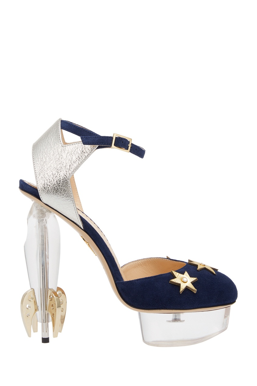 Charlotte Olympia Бархатные туфли Fly Me To The Moon