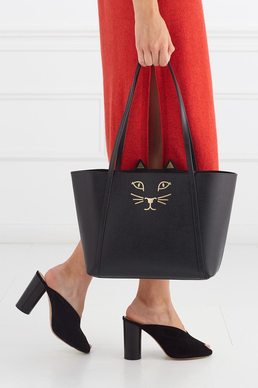 Charlotte Olympia Кожаная сумка Mini Feline