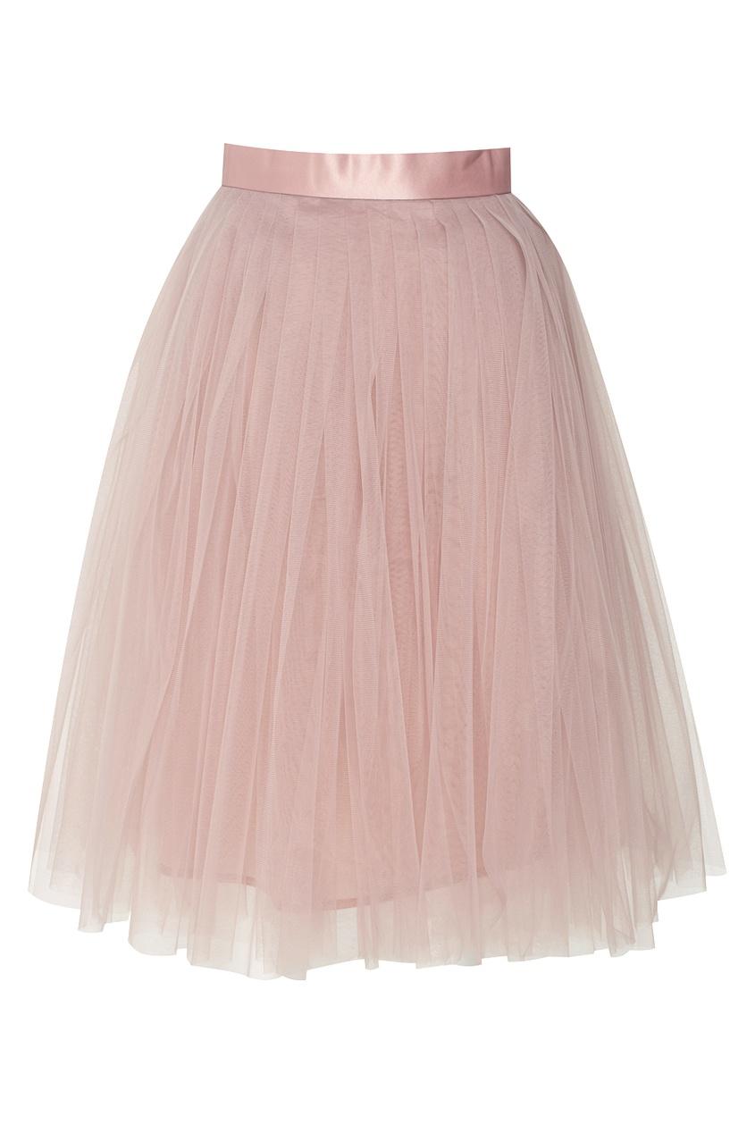 Юбка-пачка средней длины розовая