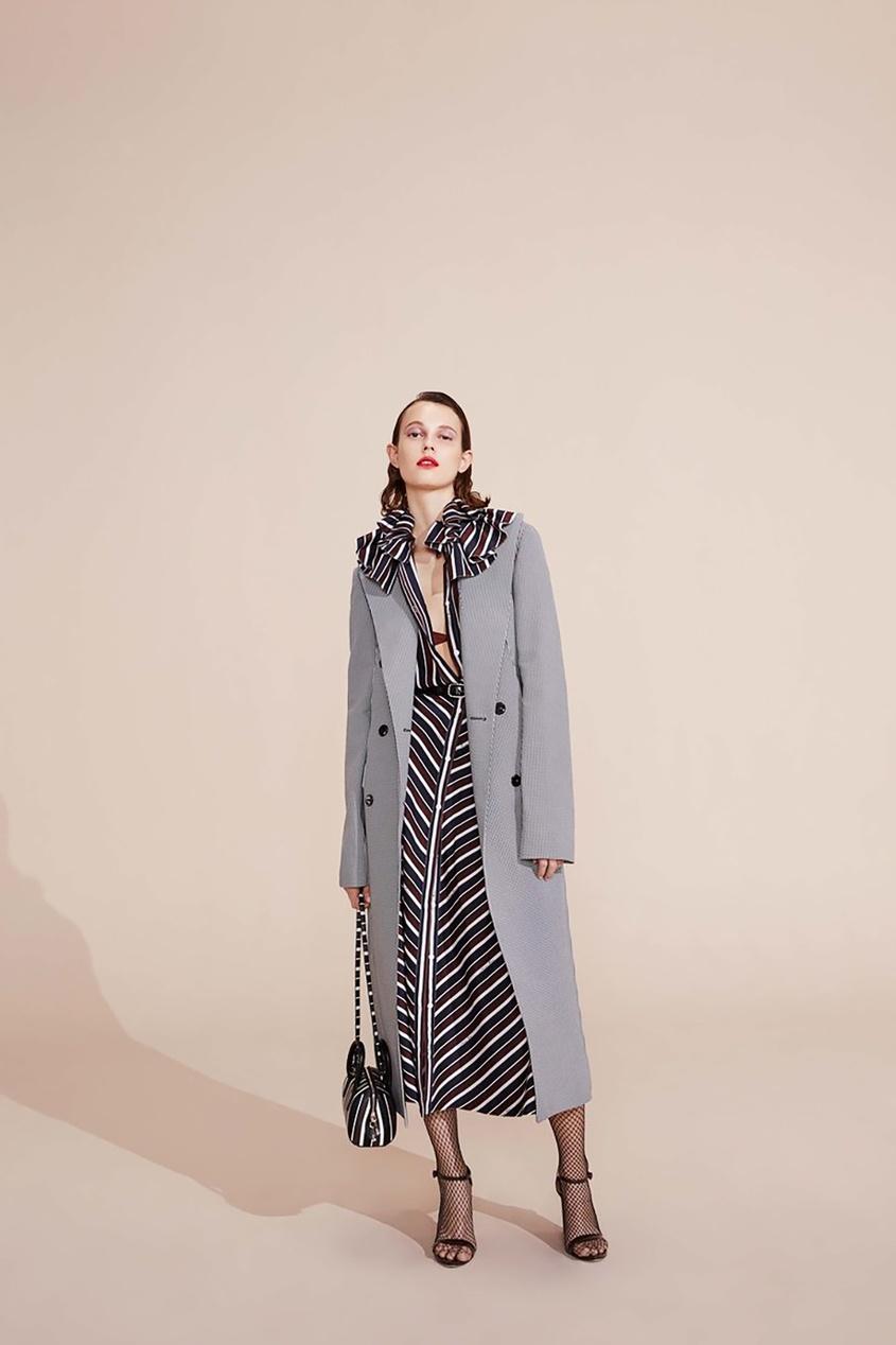 Пальто из хлопка и шелка
