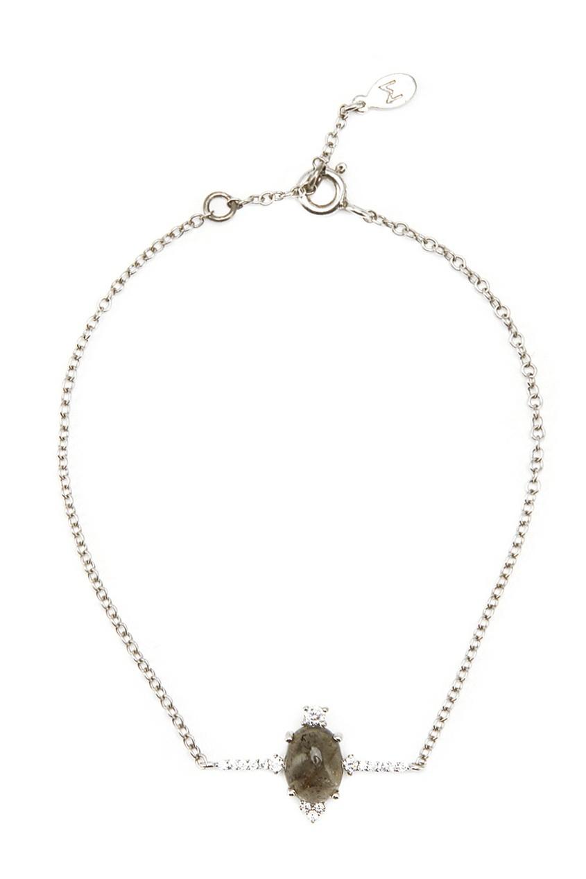 Серебряный браслет с турмалином
