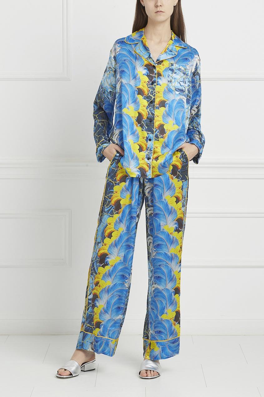 Пижамные брюки с принтом