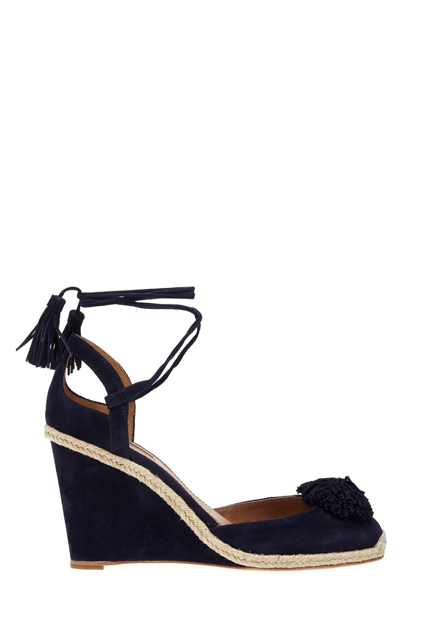 Aquazzura Замшевые туфли Sunshine Wedge Espadrille