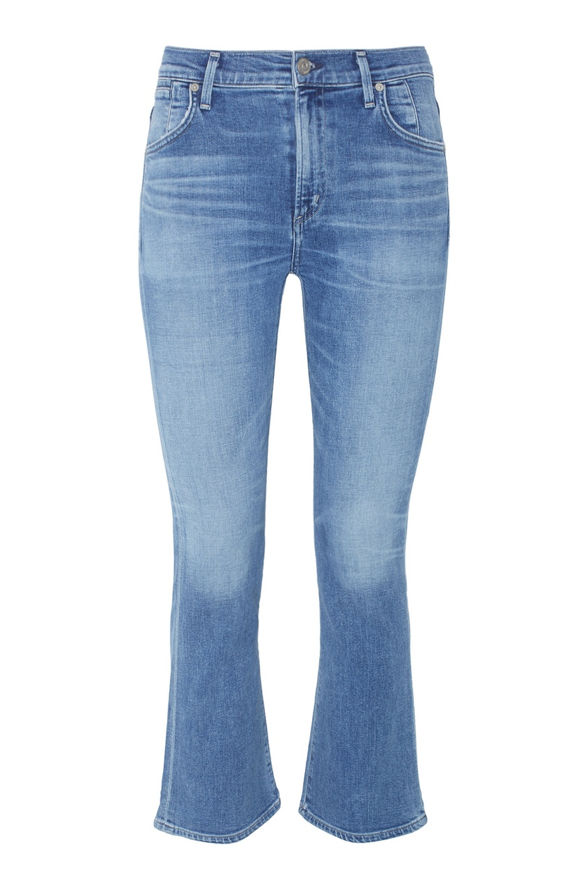 Укороченные джинсы-клеш