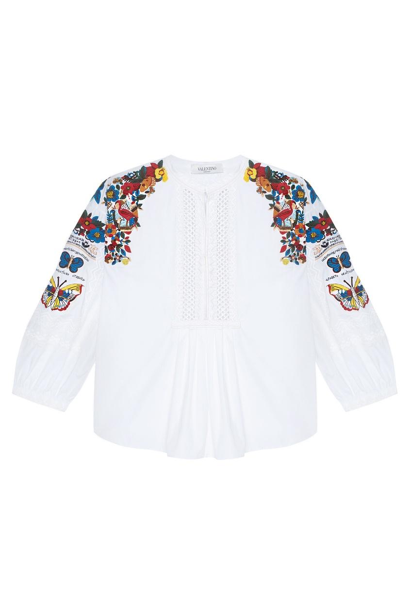 Valentino Блузка с вышивкой блузка pinetti блузка