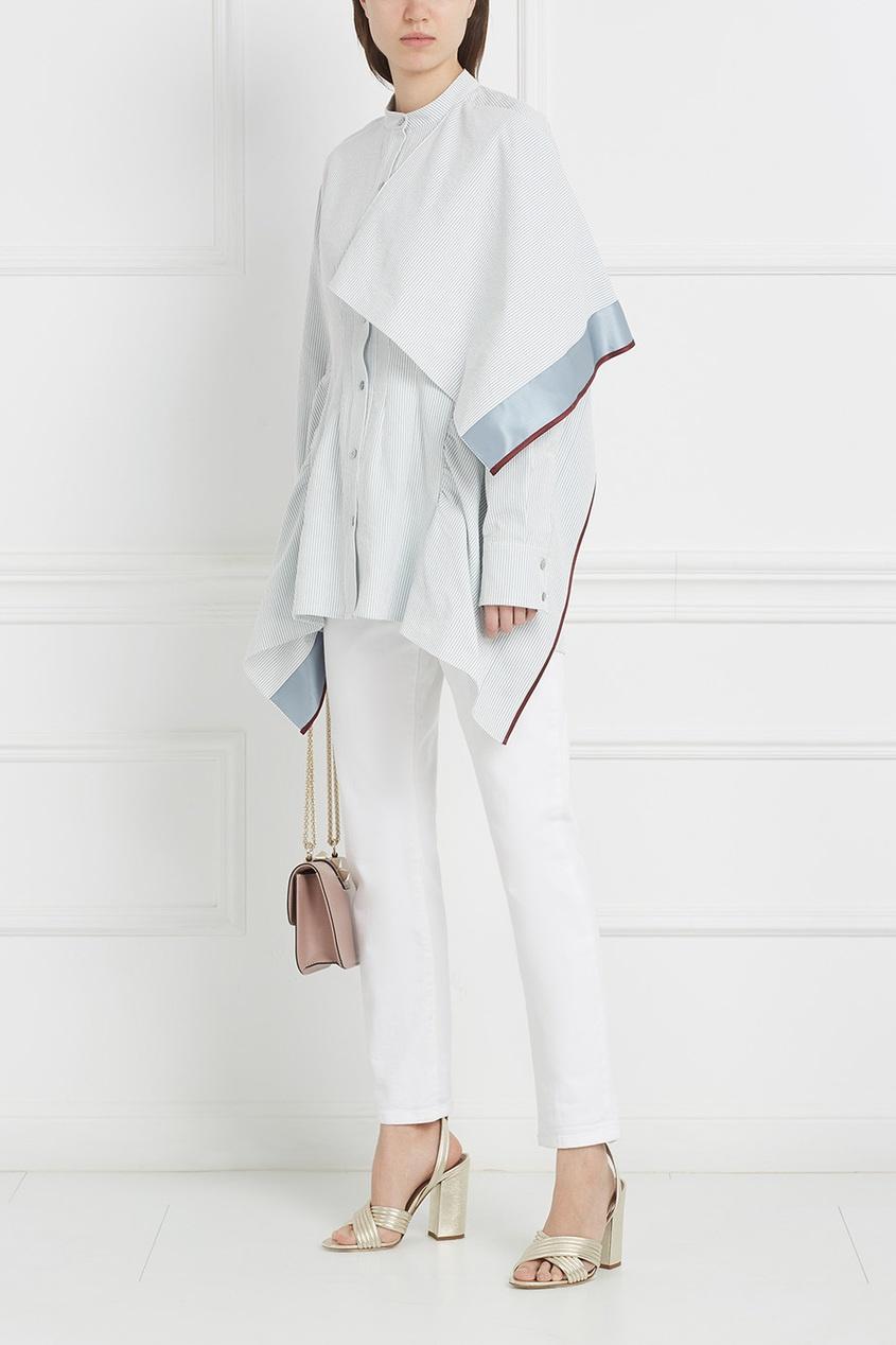 Асимметричная oversize-блузка
