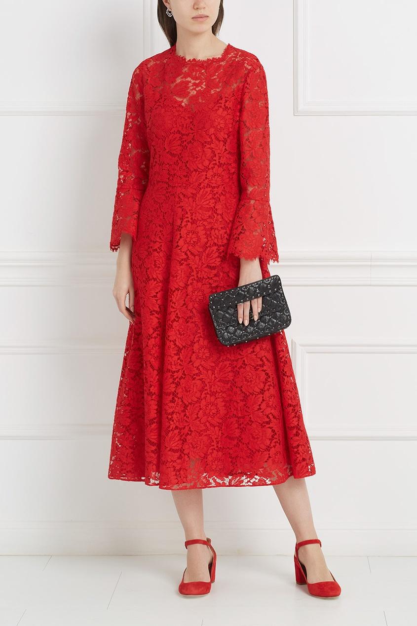 Купить со скидкой Закрытое кружевное платье