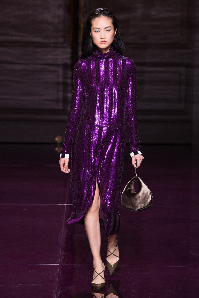 Nina Ricci Полосатое платье с пайетками nina ricci платье nina ricci 26687 черный