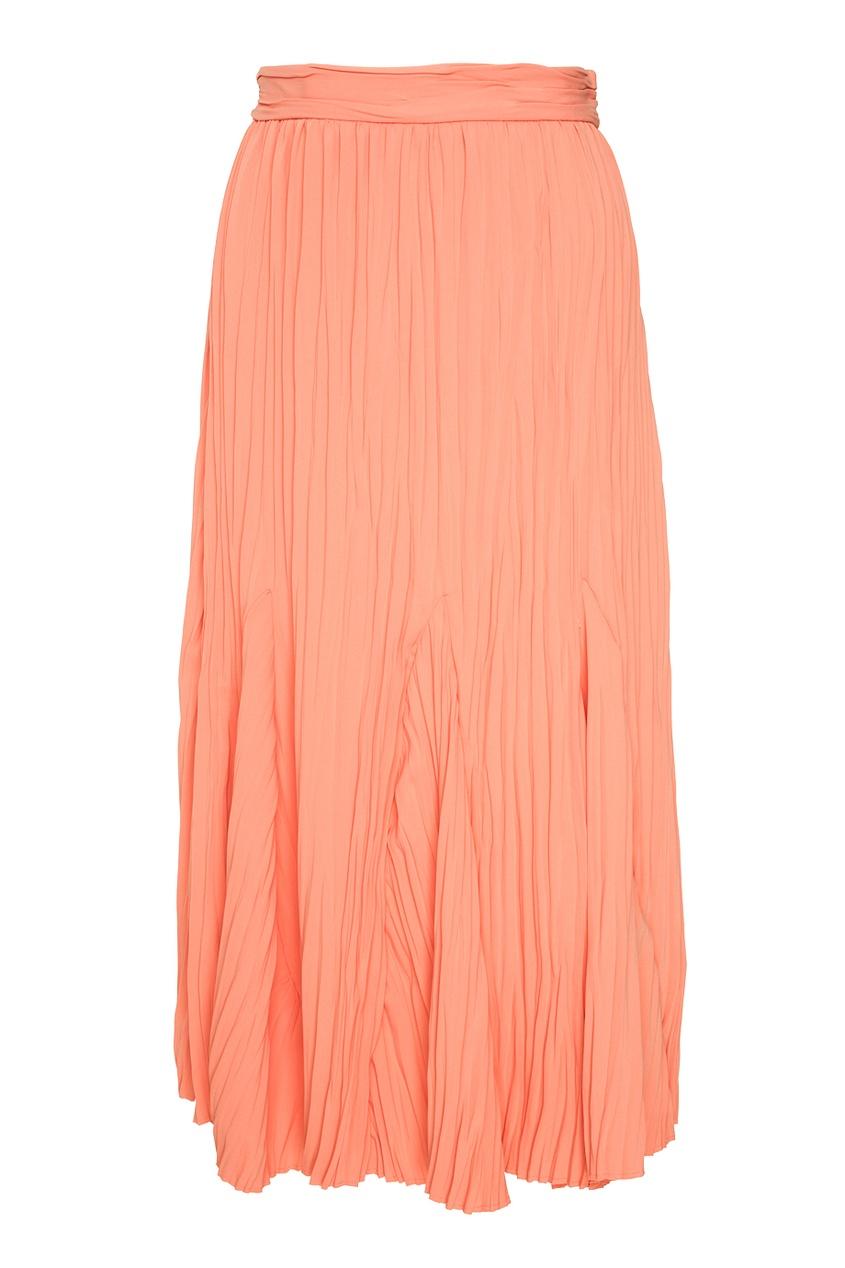 Купить со скидкой Однотонная юбка