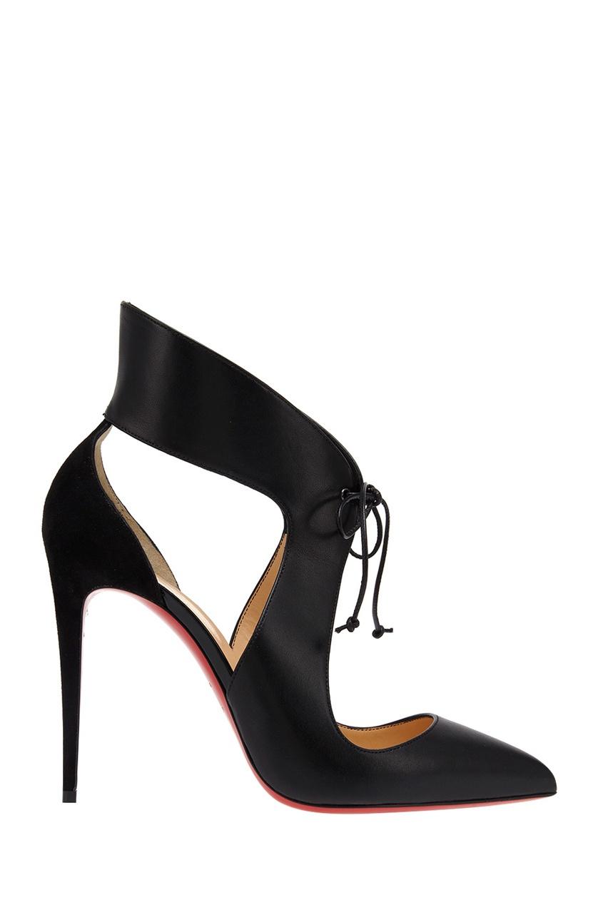 Christian Louboutin Кожаные туфли Ferme Rouge 100 christian louboutin кожаные сапоги napaleona 70