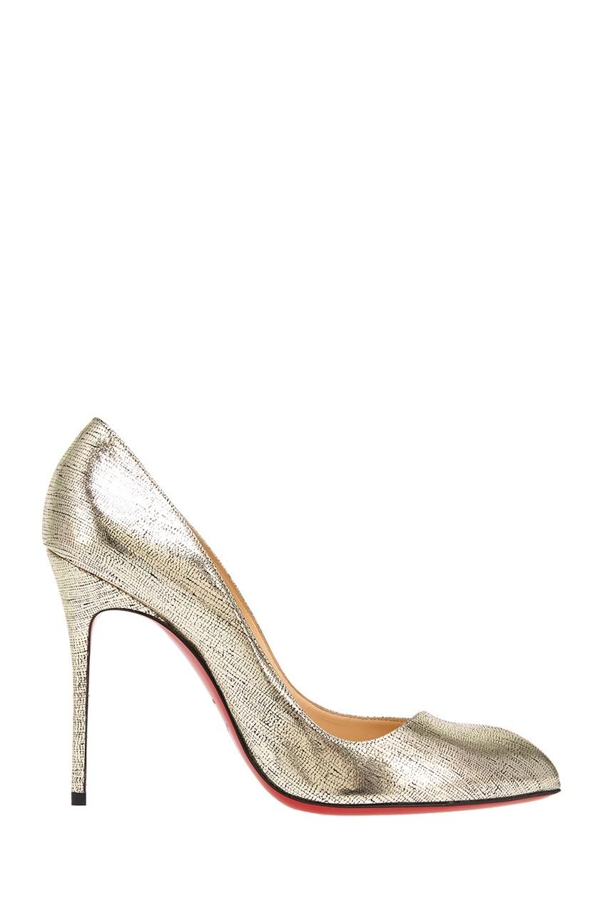 все цены на Christian Louboutin Туфли из металлизированной кожи Corneille 100 в интернете