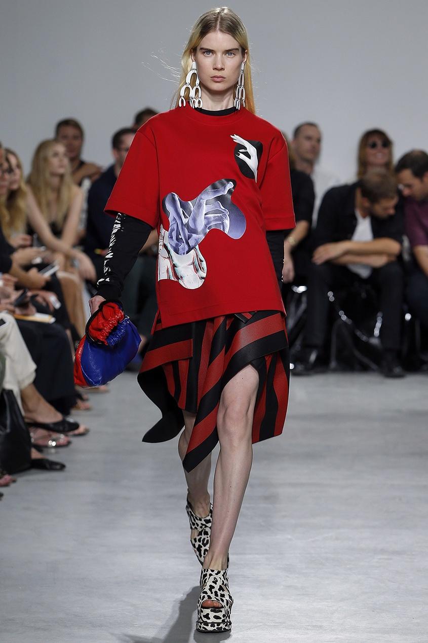 цена Proenza Schouler Фактурная асимметричная юбка онлайн в 2017 году
