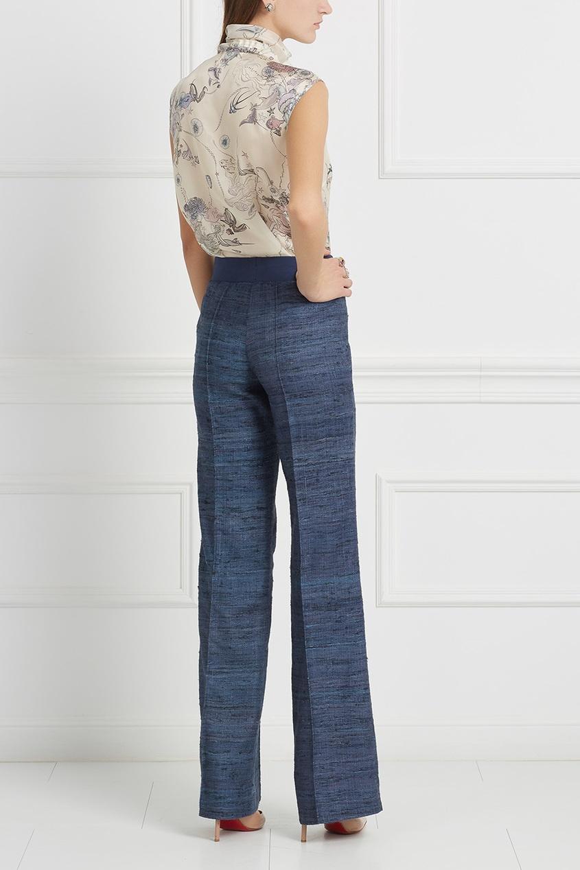 LAROOM Шелковые брюки брюки и капр