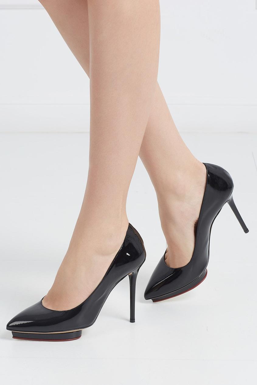 Туфли из лакированной кожи Debbie Covered Platform