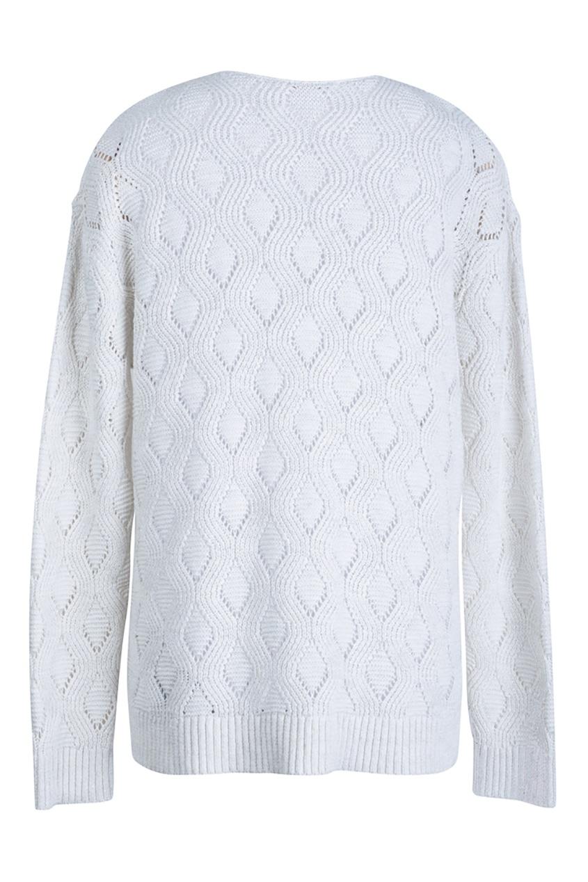 Пуловер из хлопка и льна
