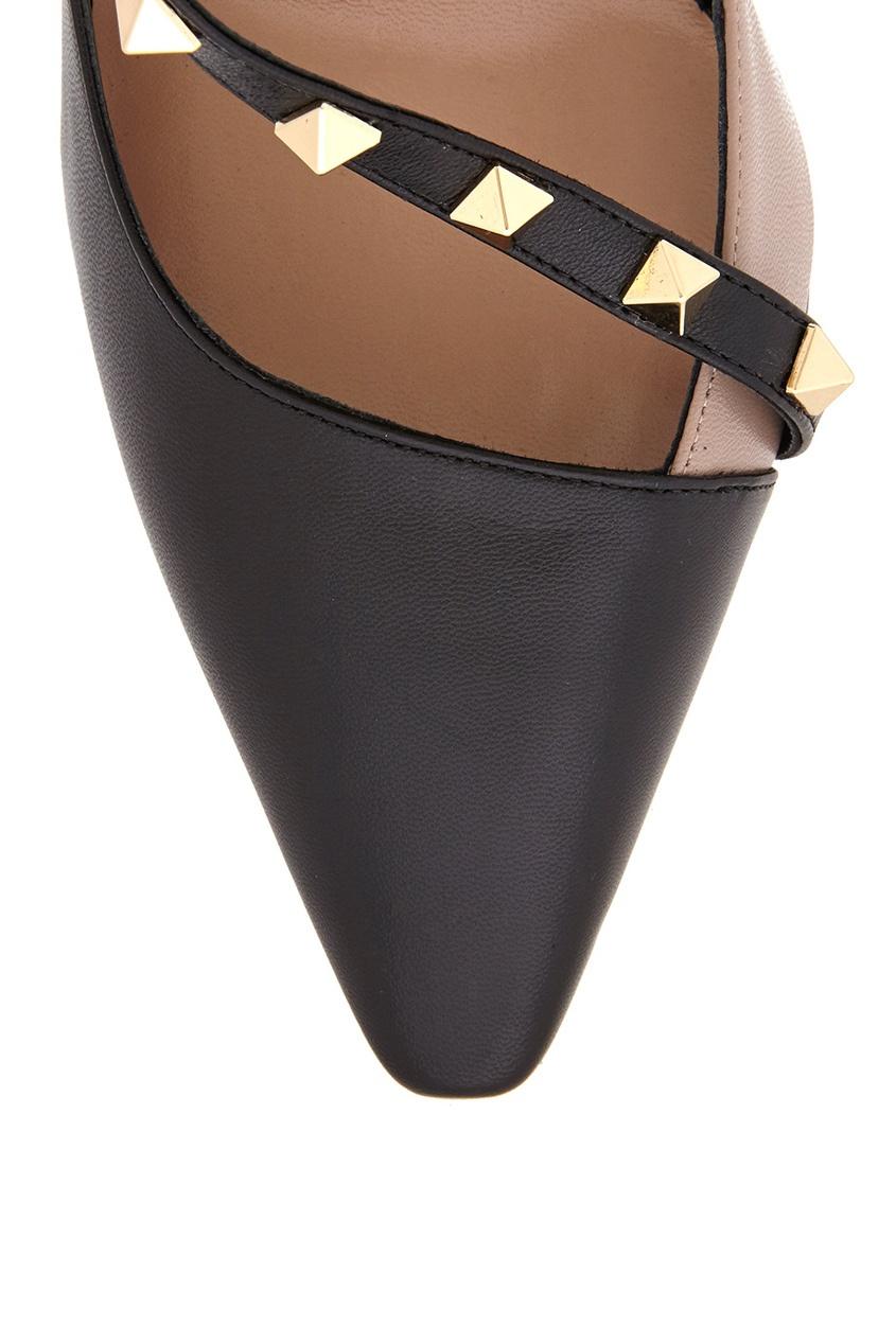 Кожаные туфли Rockstud от AIZEL