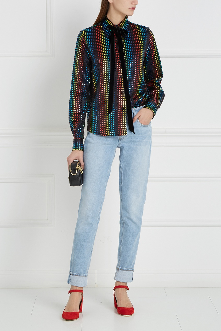 Блузка с разноцветным узором