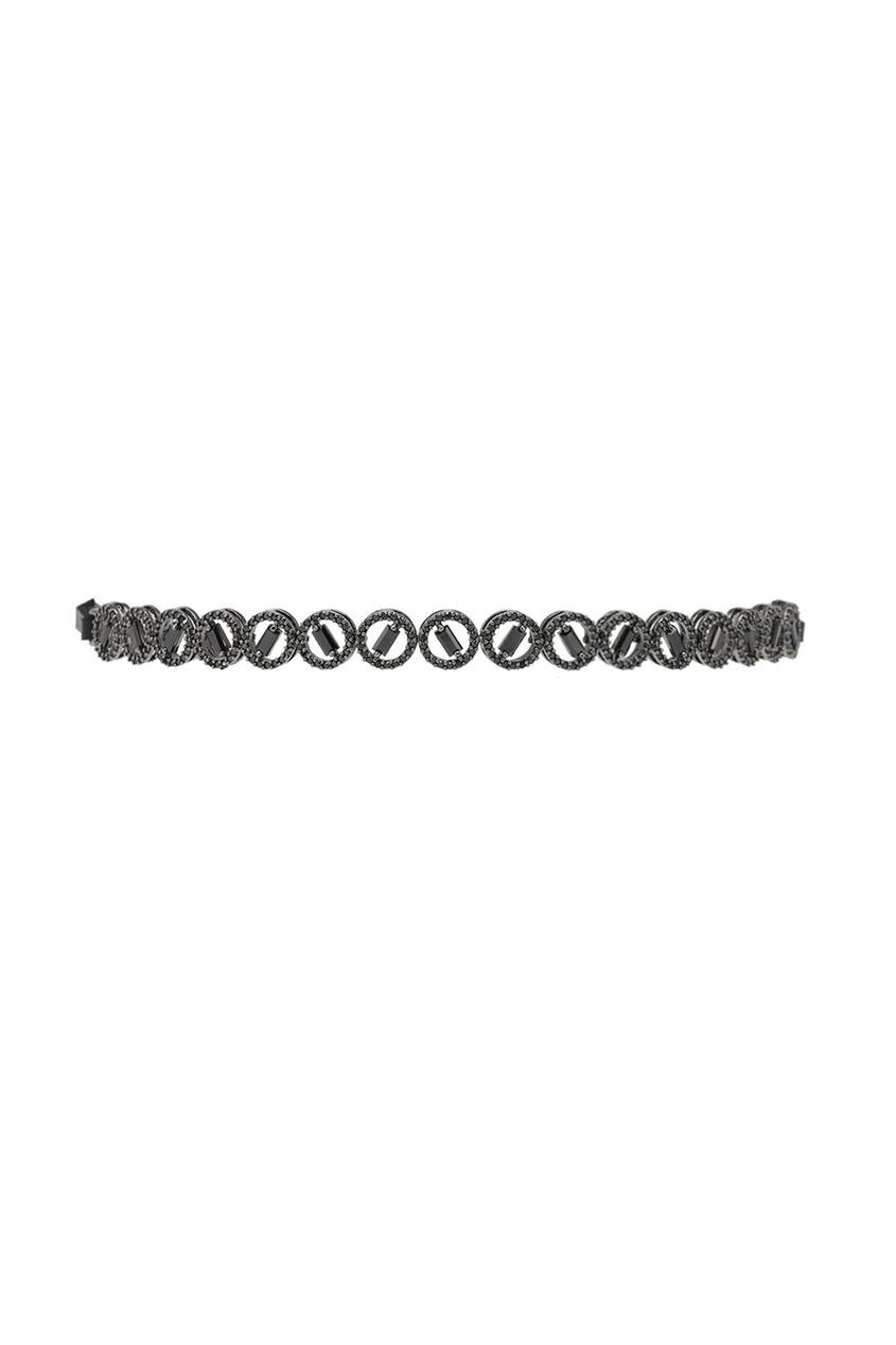 Lisa Smith Чокер с черными кристаллами чокеры neki чокер