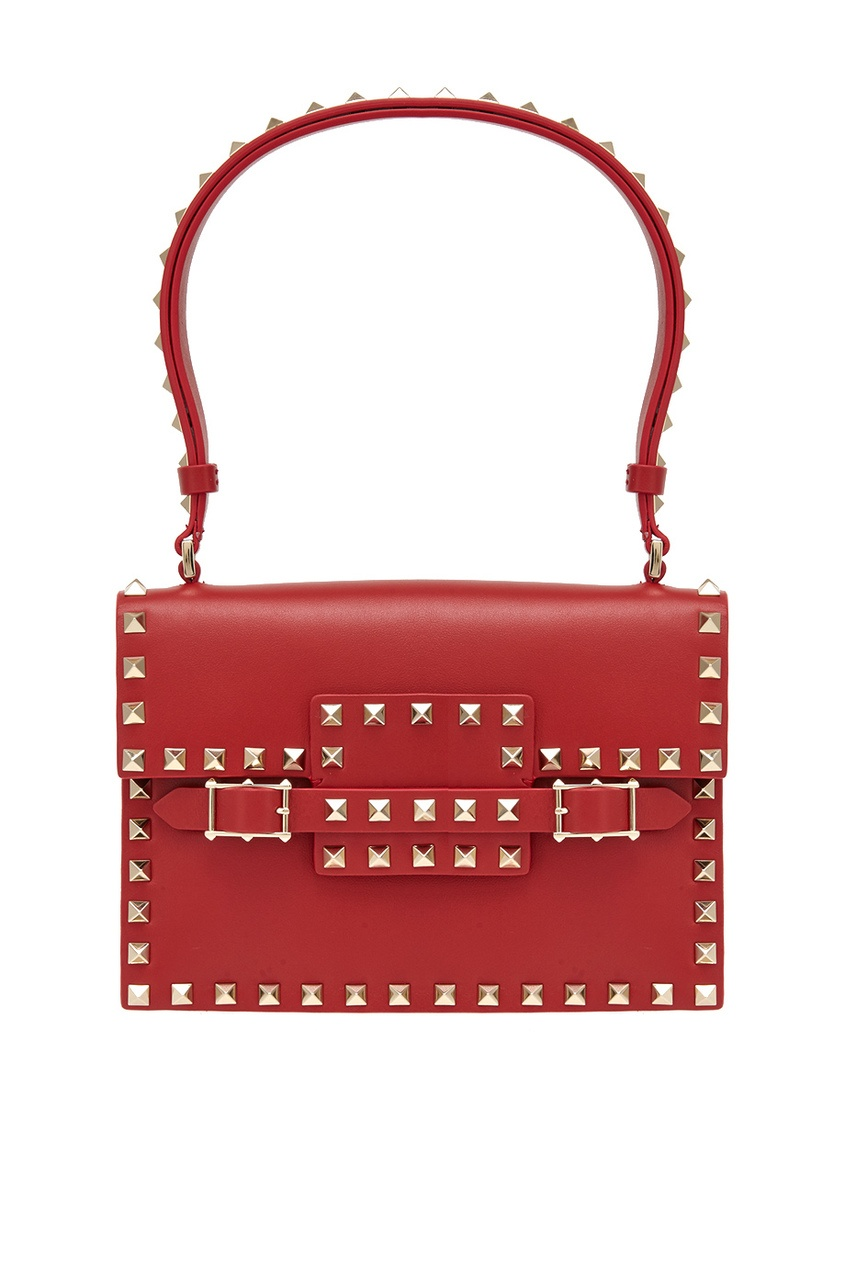 Кожаная сумка Rosso Rockstud