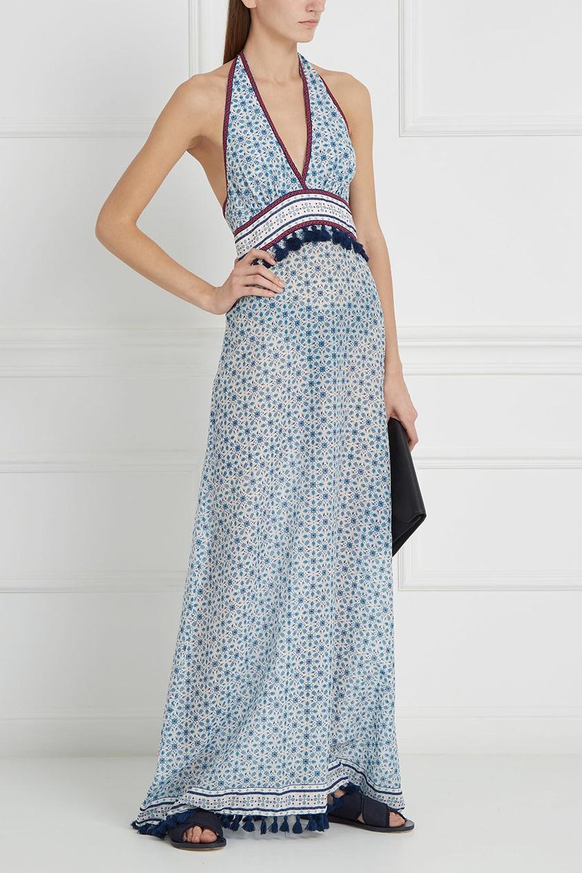 Платье из шелка и хлопка