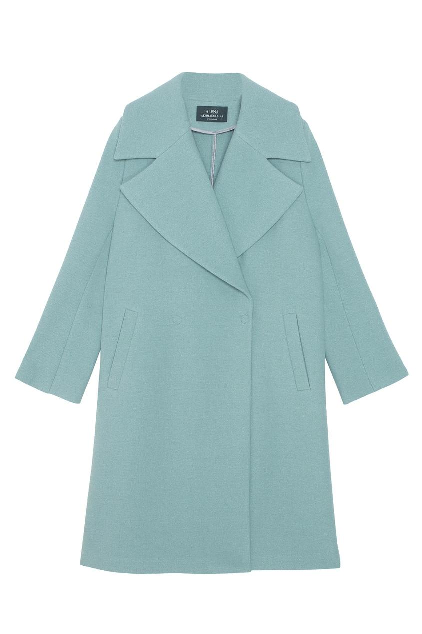 Пальто из шерсти и хлопка