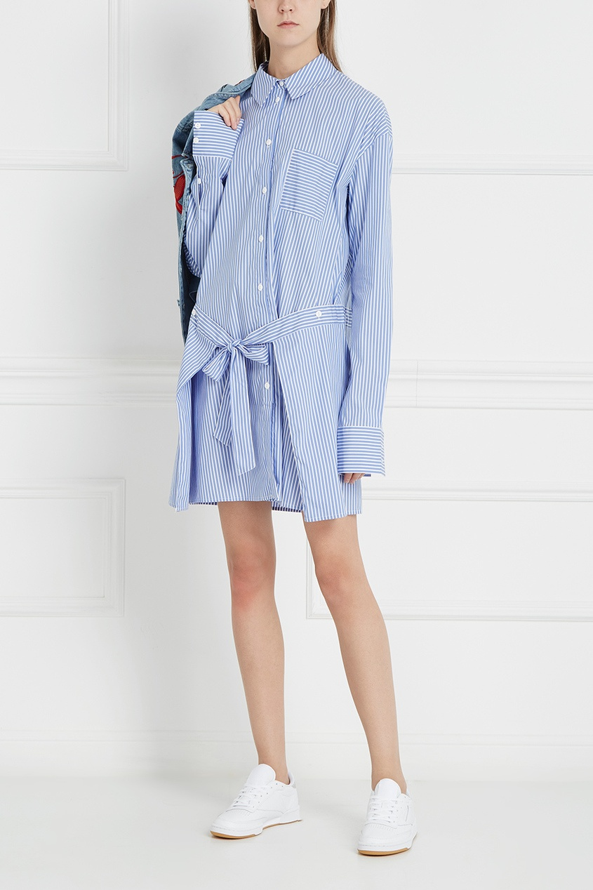 Designers Remix Хлопковое платье-рубашка Hamptons Big