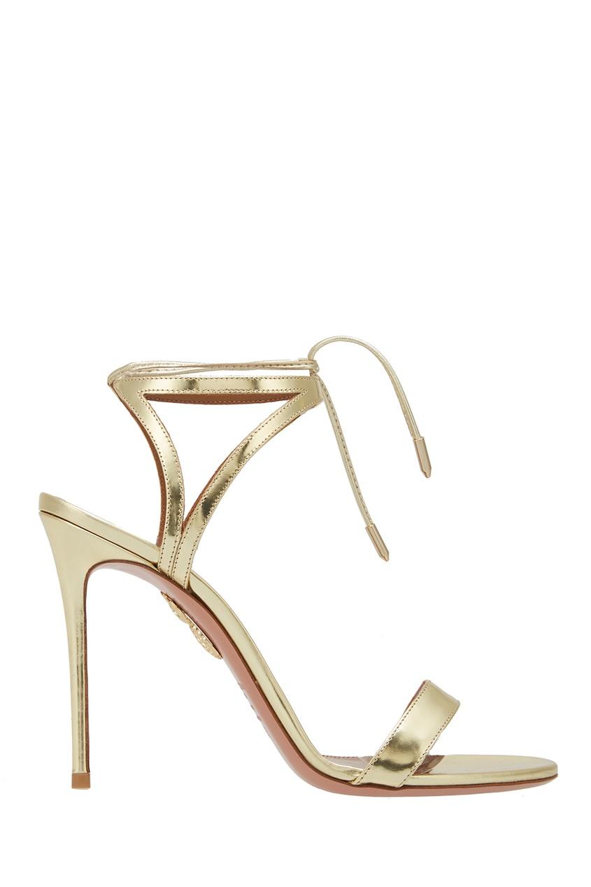 Босоножки из металлизированной кожи Uma Sandal