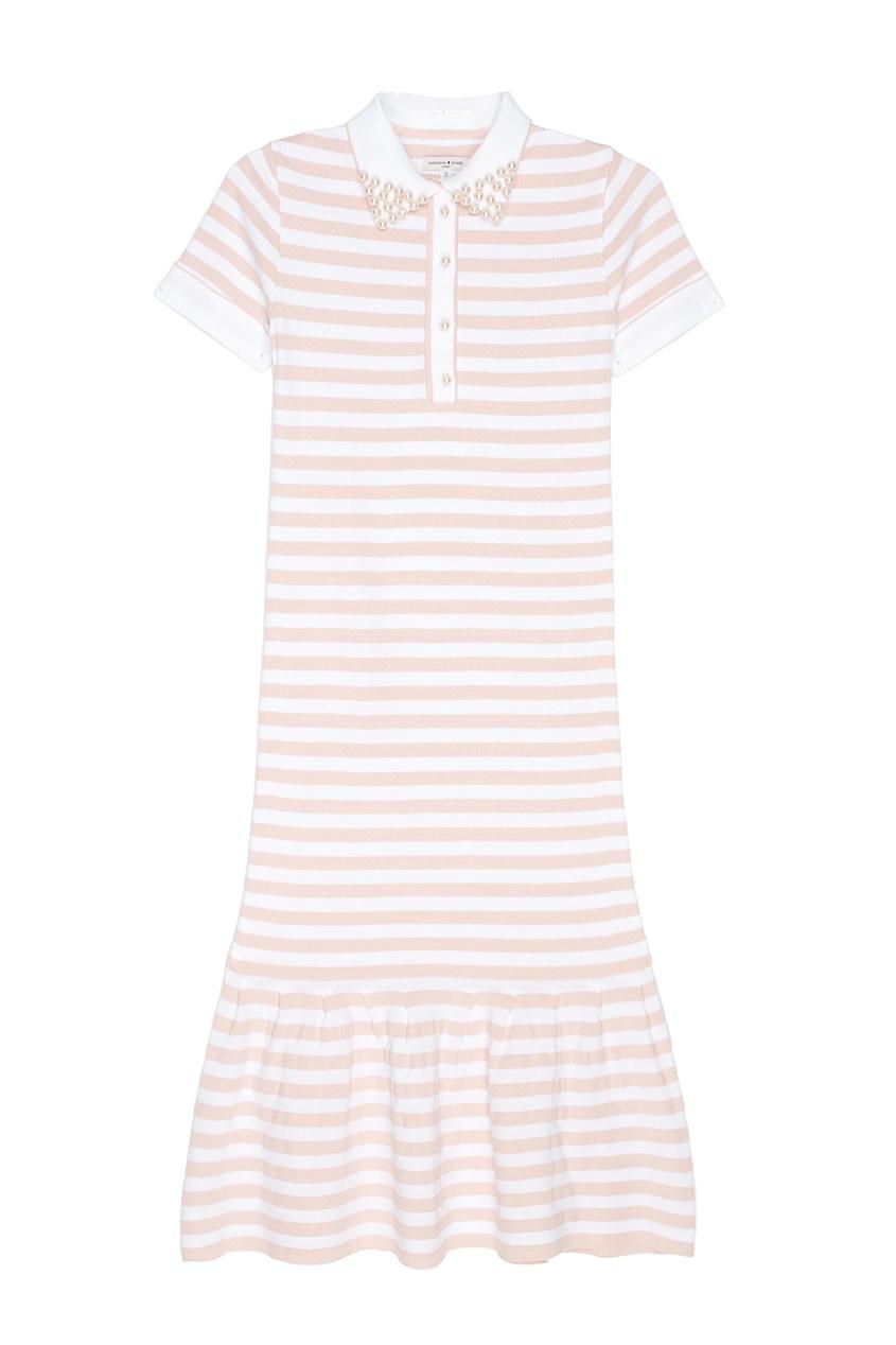 Платье с воротником-поло