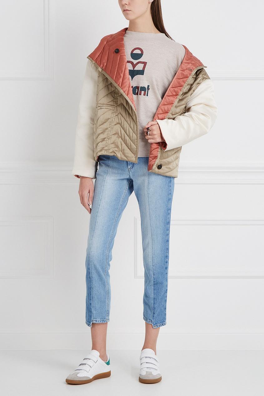 Стеганая куртка из шелка